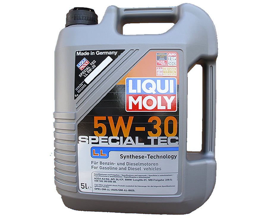5 liter motor l 5w 30 liqui moly special tec ll motoren l motoroel100. Black Bedroom Furniture Sets. Home Design Ideas
