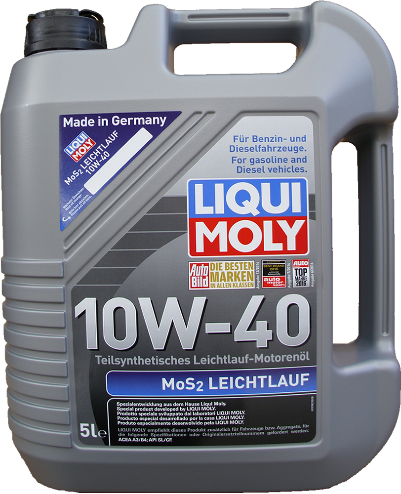 1 x 5 liter liqui moly 10w 40 mos2 acea a3 b4 motoroel100. Black Bedroom Furniture Sets. Home Design Ideas