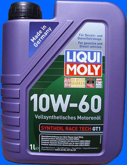 liqui moly motor l 10w 60 synthoil race tech gt1 1 liter. Black Bedroom Furniture Sets. Home Design Ideas