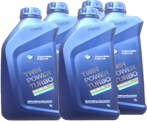 5 X 1 Liter Original BMW 0W-30 Twin Power Turbo - BMW Longlife-12 FE