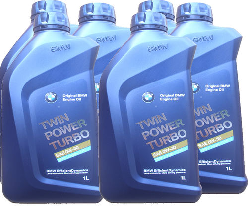 6 X 1 Liter Original BMW 0W-30 Twin Power Turbo - BMW Longlife-12 FE