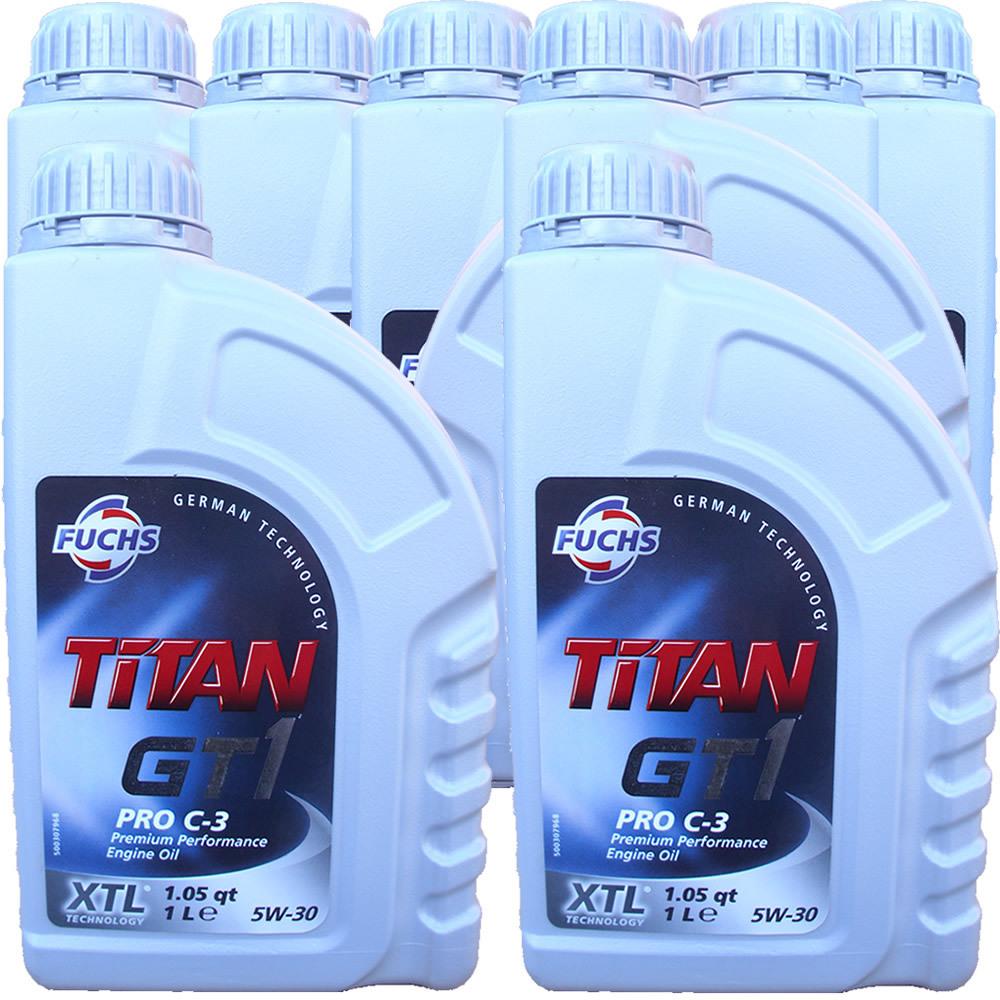 8 x 1 liter fuchs titan 5w 30 gt1 pro c3 motoroel100. Black Bedroom Furniture Sets. Home Design Ideas