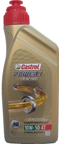 1 X 1 Liter Castrol 10W-50 Power1 Racing 4T