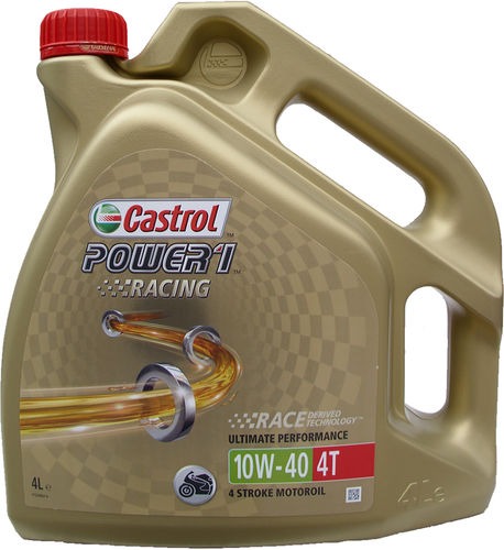 1 X 4 Liter Castrol 10W-40 4T Power Racing 4-Takt