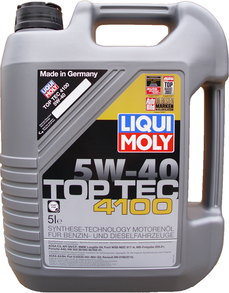 1 x 5 liter liqui moly 5w 40 top tec 4100 acea c3. Black Bedroom Furniture Sets. Home Design Ideas