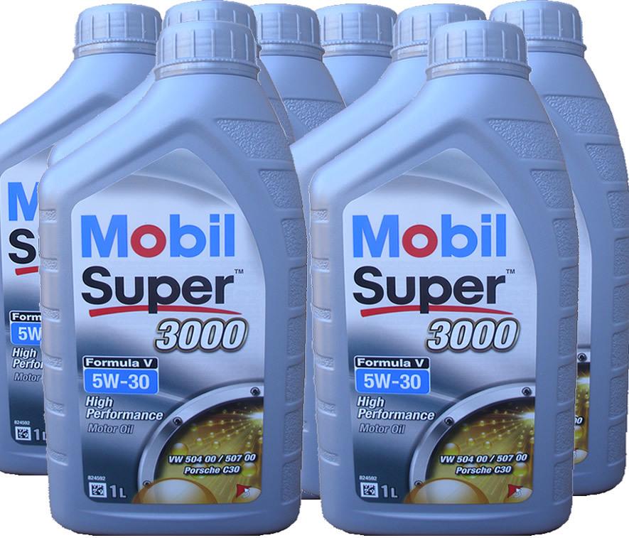 8 x 1 liter mobil 5w 30 super 3000 formula v longlife 3. Black Bedroom Furniture Sets. Home Design Ideas