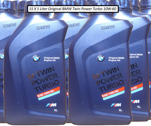 15 X 1 Liter Original BMW 10W-60 M Twin Power