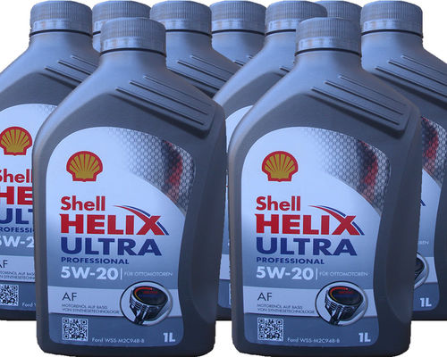 9 X 1 Liter Shell 5W-20 Helix Ultra Professional AF