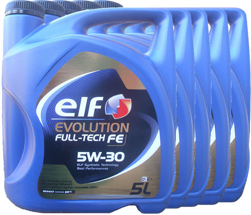 5 X 5L= 25 Liter ELF 5W-30 Evolution Full-Tech FE - Renault RN0720