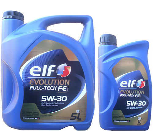 5L + 1L= 6 Liter ELF 5W-30 Evolution Full-Tech FE - Renault RN0720