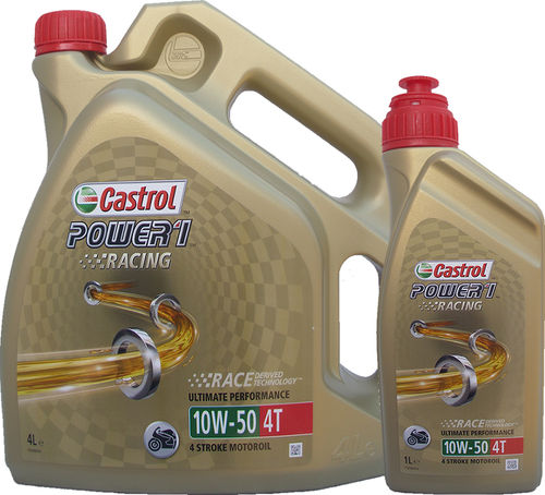 4L + 1L = 5 Liter Castrol 10W-50 Power1 Racing 4T