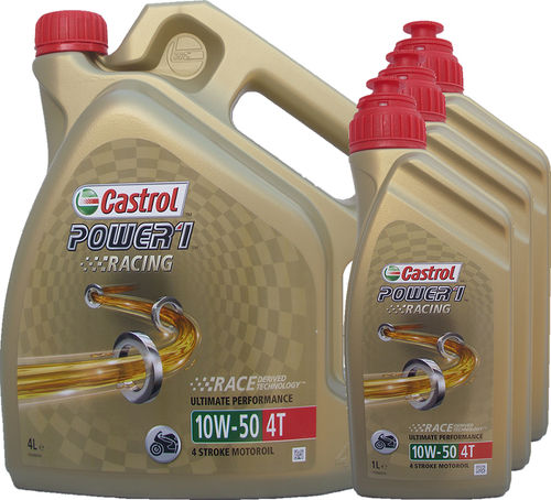 4L + 3L = 7 Liter Castrol 10W-50 Power1 Racing 4T