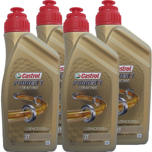 4 X 1 Liter Castrol 2T Power1 Racing