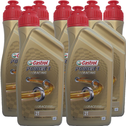7 X 1 Liter Castrol 2T Power1 Racing