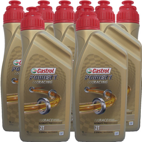 8 X 1 Liter Castrol 2T Power1 Racing