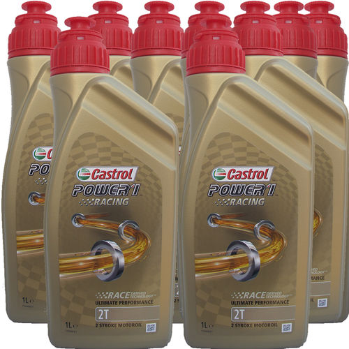 9 X 1 Liter Castrol 2T Power1 Racing