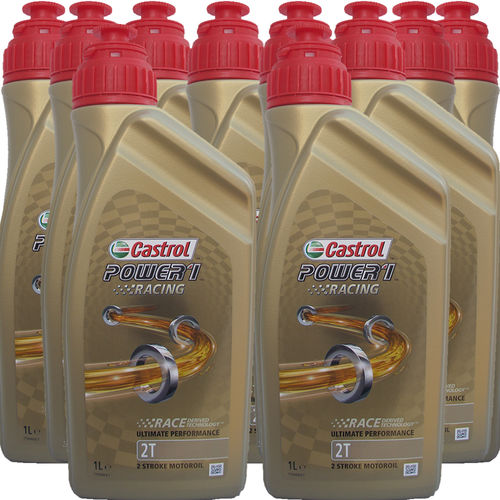 10 X 1 Liter Castrol 2T Power1 Racing