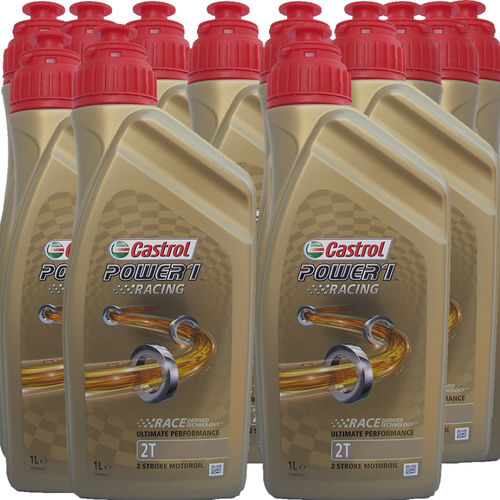 12 X 1 Liter Castrol 2T Power1 Racing