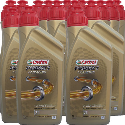 15 X 1 Liter Castrol 2T Power1 Racing