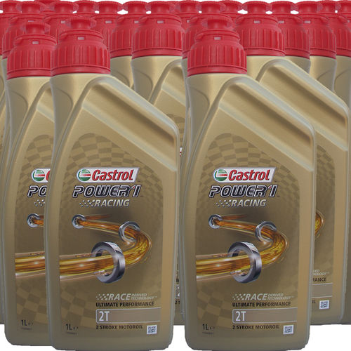 24 X 1 Liter Castrol 2T Power1 Racing