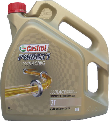 1 X 4 Liter Castrol 2T Power1 Racing