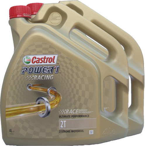 2 X 4L = 8 Liter Castrol 2T Power1 Racing