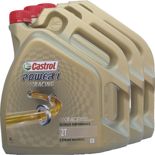3 X 4L = 12 Liter Castrol 2T Power1 Racing