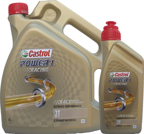 4L + 1L = 5 Liter Castrol 2T Power1 Racing