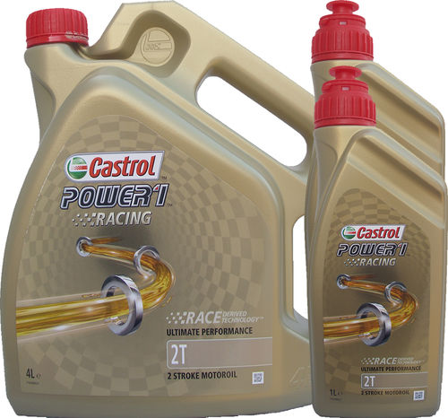 4L + 2L = 6 Liter Castrol 2T Power1 Racing