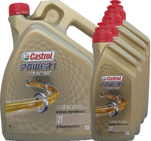 4L + (4X1L) = 8 Liter Castrol 2T Power1 Racing