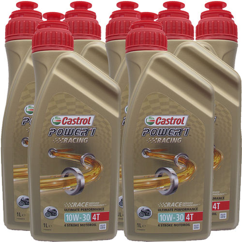 7 X 1 Liter Castrol Power1 Racing 10W-30 4T