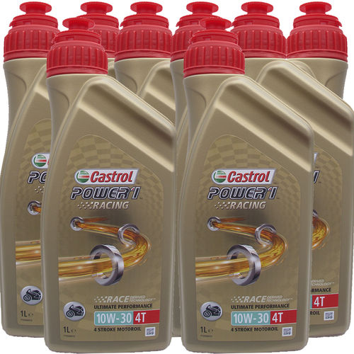 8 X 1 Liter Castrol Power1 Racing 10W-30 4T