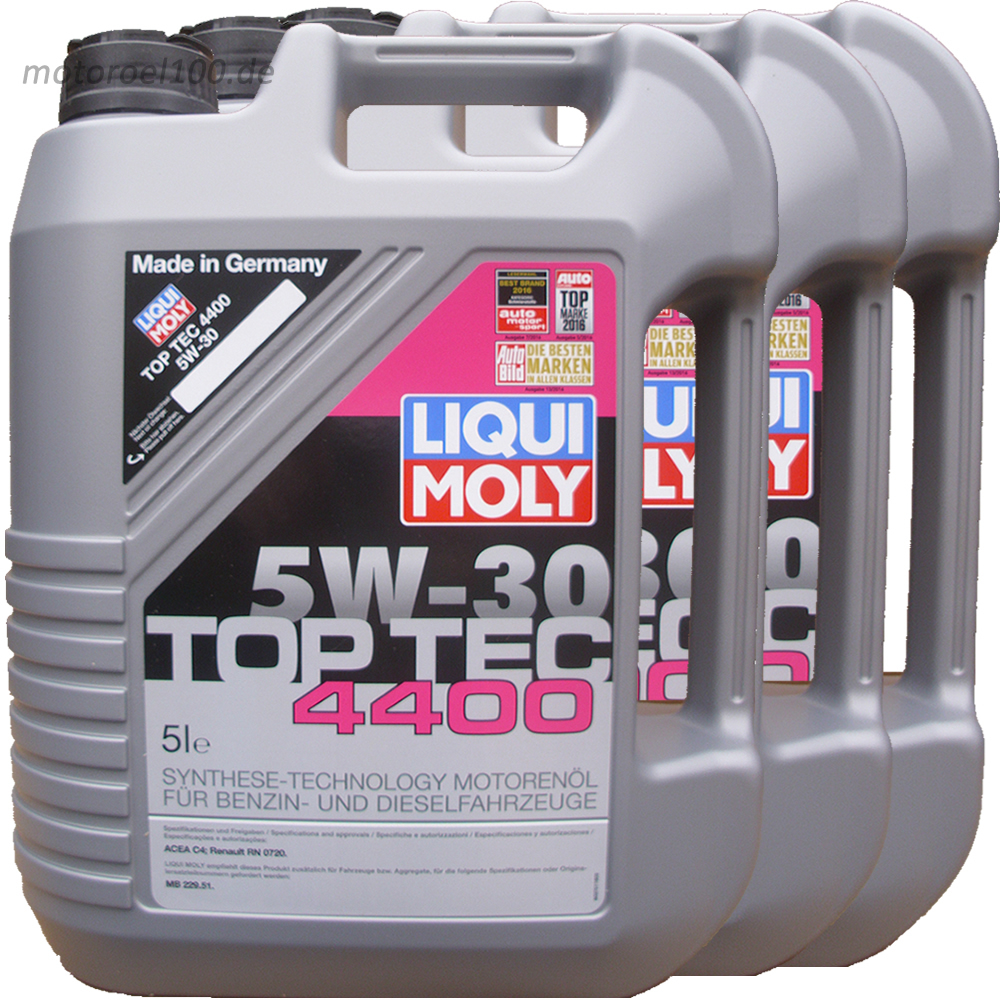 motor l liqui moly 4400 acea c4 3x5l motoroel100. Black Bedroom Furniture Sets. Home Design Ideas
