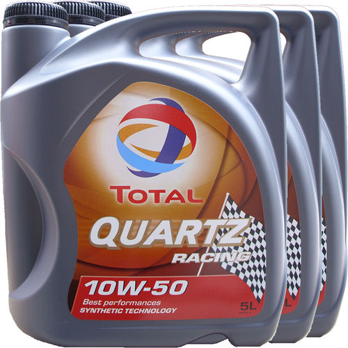 3 X 5L = 15 Liter Total 10W-50 Quartz Racing - ACEA A3/B4