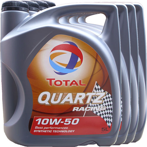 4 X 5L = 20 Liter Total 10W-50 Quartz Racing - ACEA A3/B4