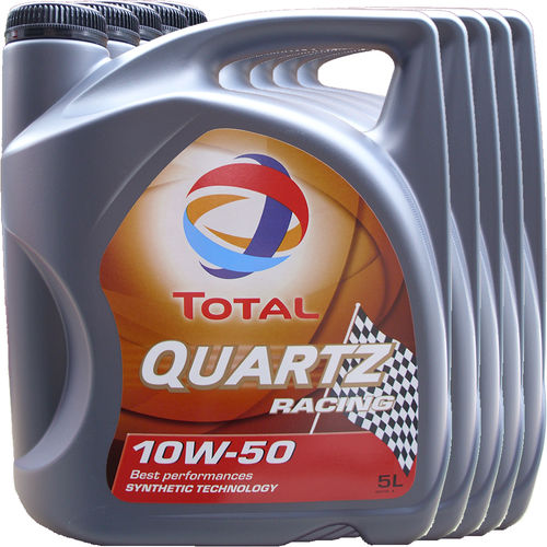 5 X 5L = 25 Liter Total 10W-50 Quartz Racing - ACEA A3/B4