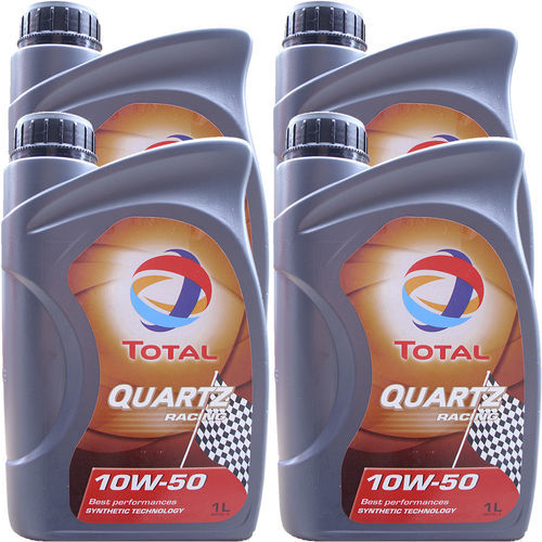 4 X 1 Liter Total 10W-50 Quartz Racing - ACEA A3/B4