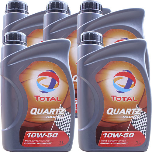 5 X 1 Liter Total 10W-50 Quartz Racing - ACEA A3/B4