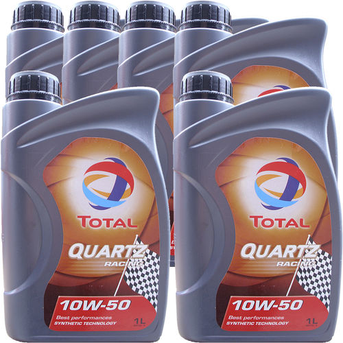 6 X 1 Liter Total 10W-50 Quartz Racing - ACEA A3/B4