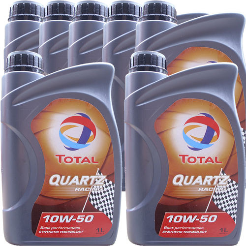 7 X 1 Liter Total 10W-50 Quartz Racing - ACEA A3/B4