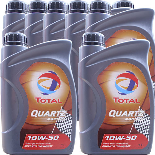 8 X 1 Liter Total 10W-50 Quartz Racing - ACEA A3/B4
