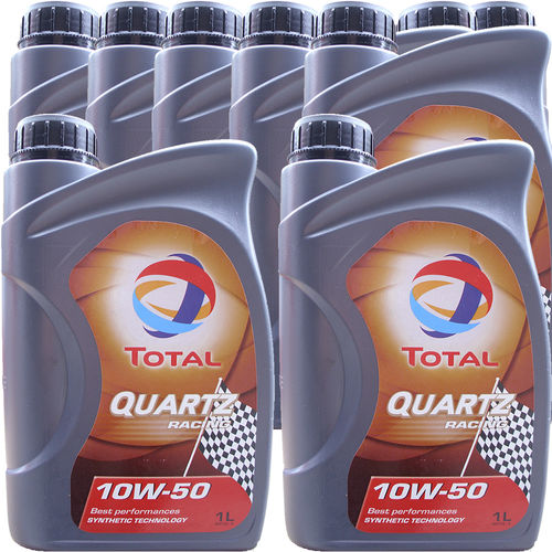 9 X 1 Liter Total 10W-50 Quartz Racing - ACEA A3/B4