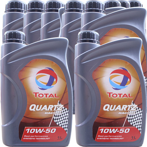 10 X 1 Liter Total 10W-50 Quartz Racing - ACEA A3/B4