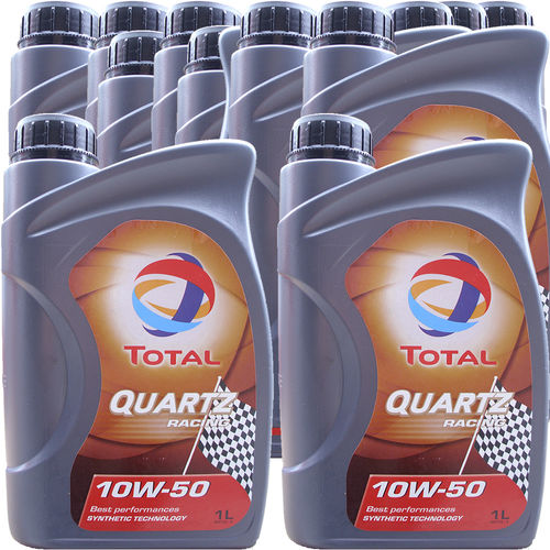 12 X 1 Liter Total 10W-50 Quartz Racing - ACEA A3/B4