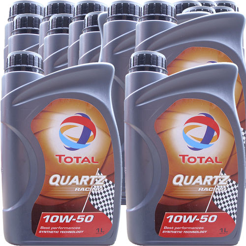 15 X 1 Liter Total 10W-50 Quartz Racing - ACEA A3/B4