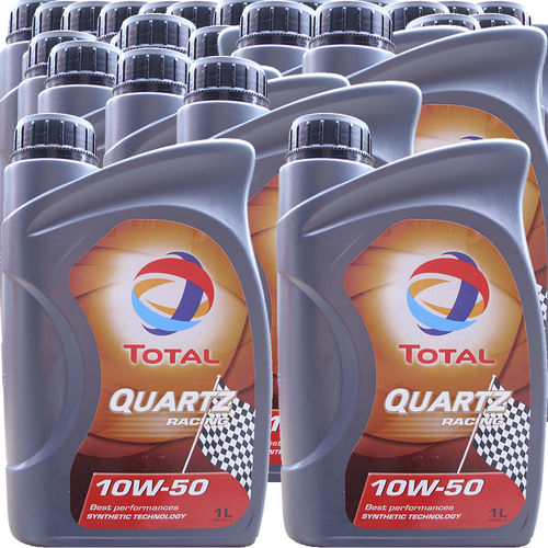 24 X 1 Liter Total 10W-50 Quartz Racing - ACEA A3/B4