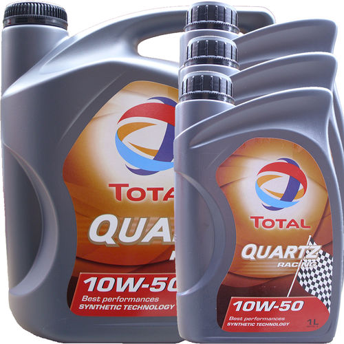 5L + 3L = 8 Liter Total 10W-50 Quartz Racing - ACEA A3/B4