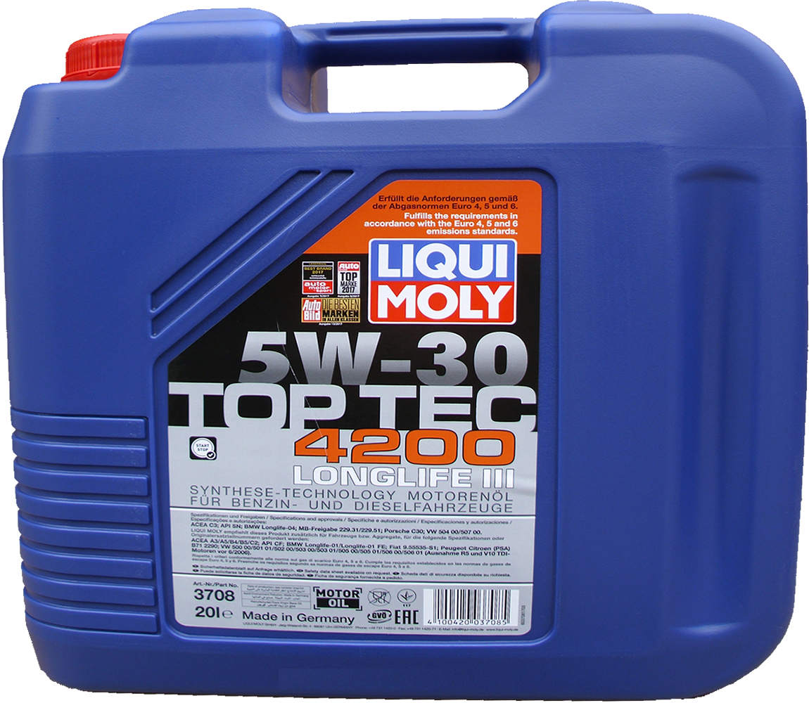 1 x 20 liter liqui moly 5w 30 top tec 4200 longlife 3. Black Bedroom Furniture Sets. Home Design Ideas