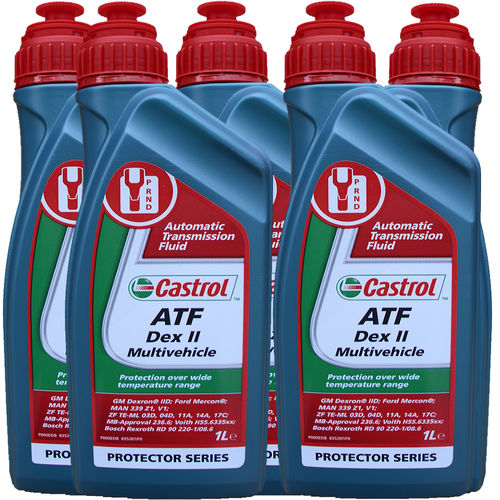 5 X 1 Liter Castrol ATF Dex II Multivehicle - Automatik Getriebeöl