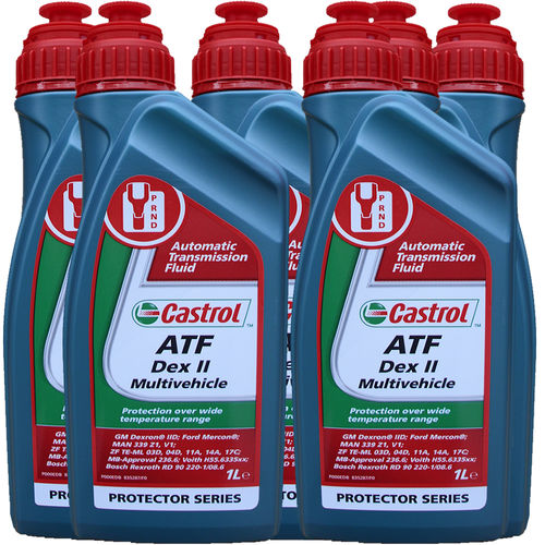6 X 1 Liter Castrol ATF Dex II Multivehicle - Automatik Getriebeöl